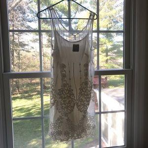 NWT Free People ivory lace mini dress size Small